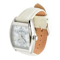 Christian Audigier Bird Cage White INT-307 Silver Dial