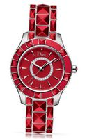 Christian Dior Christal Red Dial Red Ceramic Ladies CD143111M001