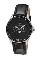 Christina Design London Black Moon Quartz with Black Dial Analogue Display and Black Leather Strap 517SBLBL