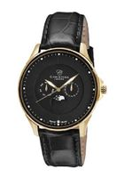 Christina Design London Black Moon Quartz with Black Dial Analogue Display and Black Leather Strap 517GBLBL