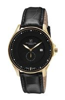 Christina Design London Classic Quartz with Black Dial Analogue Display and Black Leather Strap 518GBLBL