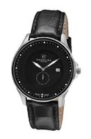 Christina Design London Classic Quartz with Black Dial Analogue Display and Black Leather Strap 518SBLBL