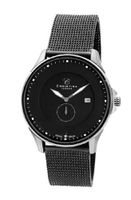 Christina Design London Classic Quartz with Black Dial Analogue Display and Black Stainless Steel Plated Bracelet 518SBL-MESH
