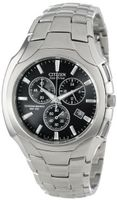 Citizen AT0880-50E Eco-Drive Chronograph Stainless Steel Black Dial