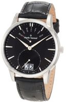Claude Bernard 34004 3 NIN Classic Gents Black Leather Big Day Date