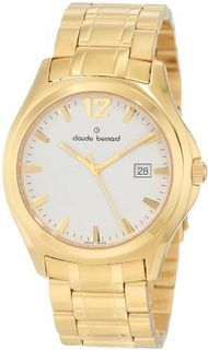 Claude Bernard 70156 37J AID Classic Gents Gold PVD and Silver Stainless Steel Date