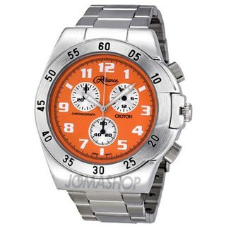 Reliance by Croton Chronograph Orange Dial Stainless Steel RE306052SLOR