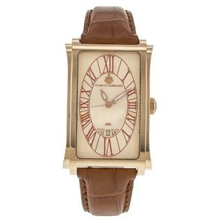 Cuervo Y Sobrinos Habana Prominente A 1012 18K Rose Gold Bezel Automatic