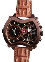 Curtis & Co. Big Time Grand Chrono 2 Time Zone Brown IPU Swiss Made Limited Edition