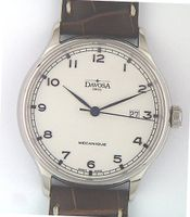 Davosa Classic - Stainless Steel - Leather Strap Brown