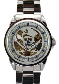 Daybird Pirate White Dial Automatic Stainless Steel es