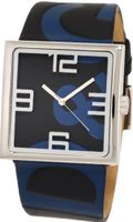 D&G Dolce & Gabbana DW0037 Andy Ext Square Analog Strap Dial Logo Stretch
