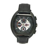 D&G Dolce & Gabbana DW0214 High Security Black Leather Black Chronograph Dial