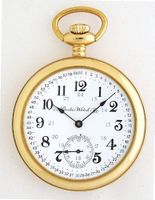 Dueber Special Railway Swiss Mechanical Pocket , High Polish Gold Open Face Case, Assembled in USA!