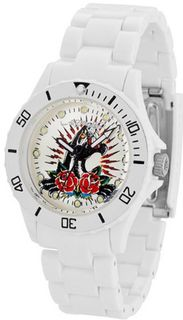Ed Hardy Unisex VIP VP2-WH White Plastic Quartz with White Dial