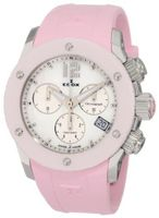 Edox 10403 3R NAIN Class 1 Pink Ceramic Mother-Of-Pearl Chronograph Rubber