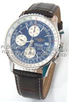 20mm Brown Crocodile Strap White Stitching Fits Breitling Navitimer