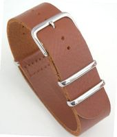 20mm Brown Custom Hand made NATO genuine leather strap