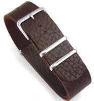 20mm Coffee Custom Hand made NATO genuine leather strap