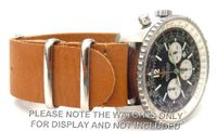 20mm Custom Hand made Tan NATO genuine leather strap fits Breitling Navitimer