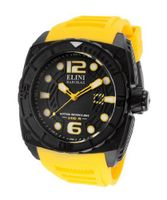 Commander Black Textured Dial Yellow Silicone