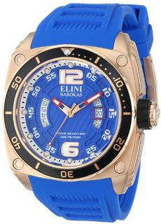 Elini Barokas ELINI-10013-RG-03-BB Commander Analog Display Swiss Quartz Blue