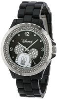 Disney 56270-1B Mickey Mouse Black Enamel Sparkle