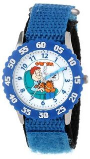 Garfield Kids' W000598 Time Teacher Blue Bezel Blue Velcro Strap