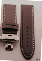 18mm Ital Leather Deployment Strap for Rolex #2 Brown