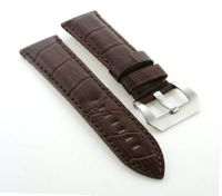 24mm Genuine Leather Band Strap for Panerai Brown #9