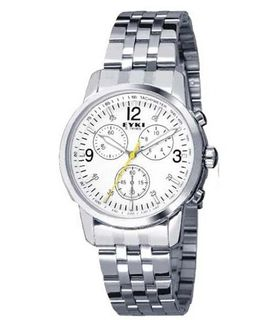 Ufingo-High End Luxury Fashion Stainless Steel Band Wrist Quartz For /Boys-White