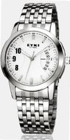 EYKI 8408 Quartz Waterproof Wristes Silver Dial and Stainless Steel Band