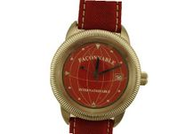 Faconnable Internation Red Date Wrist in Steel