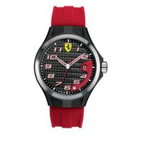 Ferrari 0830014 Lap Time Red Silicone Strap Black Dial