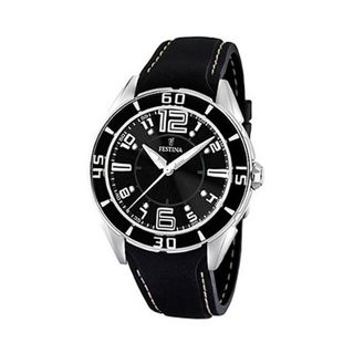 Festina Unisex F16492/6 Black Rubber Quartz with Black Dial