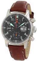 Fortis 597.11.11 L.16 Flieger Automatic Brown Automatic Cronograph Leather Strap