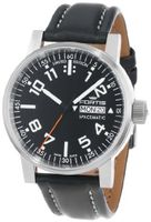 Fortis 623.10.41 L.01 Spacematic Swiss Automatic Luminous Day and Date Black Leather Band