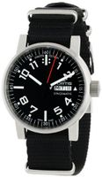 Fortis 623.10.41 N.01 Spacematic Swiss Automatic Black Luminous Dial Black Canvas Strap