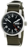 Fortis 623.10.41 N.11 Spacematic Swiss Automatic Black Luminous Dial Green Canvas Strap