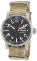 Fortis 623.10.41 N.39 Spacematic Swiss Automatic Luminous Day and Date Beige Nylon Strap