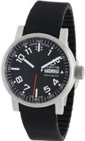 Fortis 623.10.41 Si.01 Spacematic Swiss Automatic Luminous Day and Date Black Silicone Strap