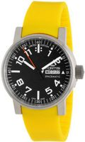 Fortis 623.10.41 Si.04 Spacematic Swiss Automatic Luminous Day and Date Yellow Silicone Strap