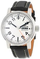 "Fortis 623.10.42 L.01 ""Spacematic"" Silver-Tone and Black Leather"