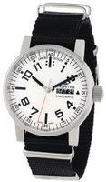 Fortis 623.10.42 N.01 Spacematic Swiss Automatic Black Canvas Strap Luminous Day Date