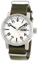 Fortis 623.10.42 N.11 Spacematic Swiss Automatic Luminous Day and Date Green Nylon Strap