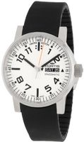 Fortis 623.10.42 SI.01 Spacematic Swiss Automatic Luminous Day and Date Black Silicone Band