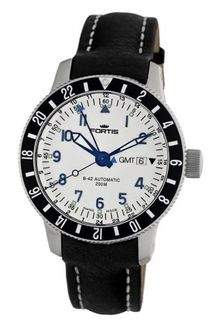 Fortis 650.10.12 L.01 B-42 Diver Automatic Black Leather Date