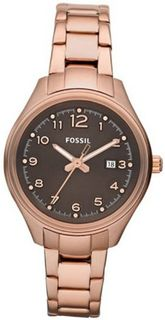 Fossil AM4366 Stainless Steel Analog Brown Dial