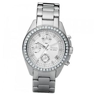 Fossil ES2681 Stainless Steel Bracelet Black Glitz Analog Dial Chronograph