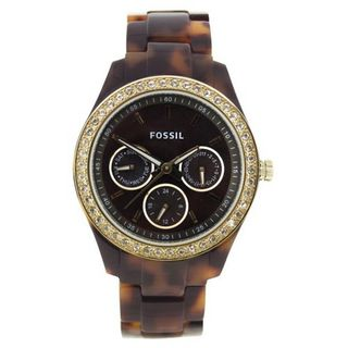 Fossil ES2795 Plastic Analog with Brown Dial